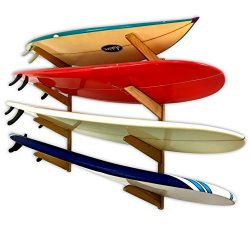 Timber Surfboard Wall Rack – Holds 4 Surfboards – Natural Wood Home & Garage Sto ...