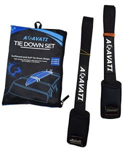 Acavati – Car Surfboard Tie Down Set – 9 ft – SUP Tie Down Straps with cam buc ...