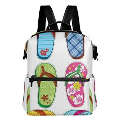 Tote Bags Travel Bag for girl & Women Flip Flops Frenzy Surfboard backpack Adjustable Size