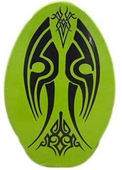 Rubber Top Wooden Skimboard With Slip Free Grip (No Wax Needed!) (Green3, 41 Inch)