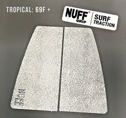 NUFFGRIP, Surf Traction Grip Pad with Surf Wax, (TROPICAL WATER 69F +), Sticky Bump Sticky Bump  ...