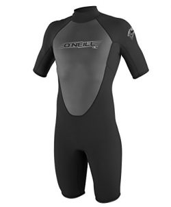 O'Neill Men's Reactor 2mm Back Zip Spring Wetsuit, Black, Large Tall