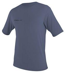O'Neill Wetsuits UV Sun Protection Mens Basic Skins Short Sleeve Tee Sun Shirt Rash Guard, ...
