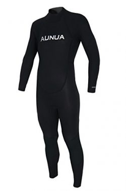 Aunua Youth 3/2mm Neoprene Wetsuits for Kids Full Wetsuit Swimming Suit Keep Warm(7031 Black 12)