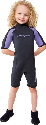 NeoSport Wetsuits Youth Premium Neoprene 2mm Youth's Shorty, Lavender Trim, 4 – Divi ...