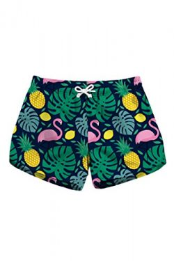 Abby Berny Ladies Goose/Pineapple Print Surf Board Boxer Shorts Trunks Green M