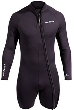 NeoSport Men's Premium Neoprene 3mm Waterman Wetsuit Jacket, X-Large