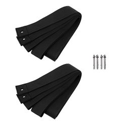 MonkeyJack 4 Pieces Black Strong Polyester Stand up Paddle Board SUP Surfboard Indoor Garage Sto ...