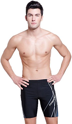 FakeFace Professional Men's Fashion Square Leg Jammer Swimsuit Swimming Trunks Brief Sport ...