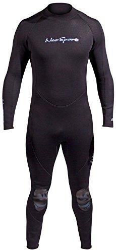NeoSport Wetsuits Men's Premium Neoprene 5mm Full Suit, Black, Large – Diving, Snork ...