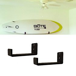 Car Rack & Carriers Surfboard Wall Rack for Long Boards and Short Boards Works Indoor and Ou ...