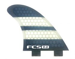 FCS K2.1 V-2 Performance Core Surfboard Fin – Tri Set