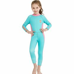 DIVE & SAIL Kids Thermal Protection Swimsuit Anti-scratch 2.5mm Neoprene Wetsuit Full Body S ...