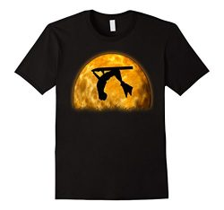 Mens Bodyboard Sunset Silhouette Shirt Moon Rise Bodyboarder Tee 2XL Black