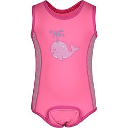 Aquawarm Whale Infant Girls' Neoprene Baby Warmer Swim Wetsuit, Pink (12-24 Months)
