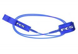 Bubble Gum FCS Surfboard Leash Leg Rope (Blue Glass, 6′ Comp)