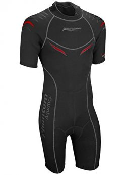Phantom Aquatics Men's Marine Shorty Wetsuit, Black/Red, Large