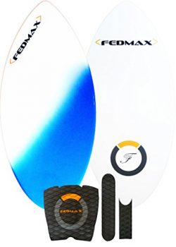 Fedmax Fiberglass Skimboard | Blue, 52 In. (For Riders from 160lbs. to 220lbs.) | Includes Tract ...