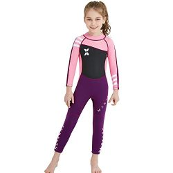 Dark Lightning Kids Wetsuit, 2mm Neoprene Thermal Swimsuit, One Piece Wet Suits for Fishing,Scub ...