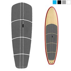 ABAHUB 12 Piece Surf SUP Deck Traction Pad Premium EVA with Tail Kicker 3M Adhesive for Stand Up ...
