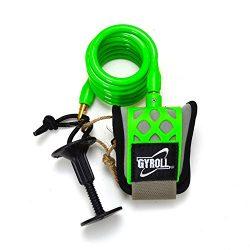 Mike Stewart Gyroll Wrist Leash – Lime Green