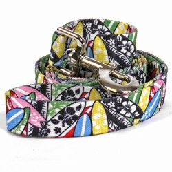 Yellow Dog Design Surfboards Dog Leash-Size Large-1 Inch Wide and 5 feet (60 inches) long