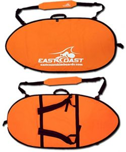 "East Coast Skimboards ECS Skimboard Travel Bag – Small 45"" (Neon Orange)"