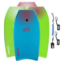 BPS 33″ Blue w/Purple Dots Bodyboard with Leash and Fin Tethers (2018)