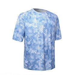 Performance Short Sleeve Fishing Shirt Men UPF 50 UV Sun Protection Hiking Quick Dry Cooling Ras ...