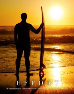 Surfing Motivational Poster Art Print 11×14 Longboard Surfboard Women's Wet Suit Shor ...