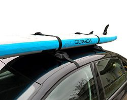 SUP & Surfboard Car Rack – Adjustable & Removable Roof Rack – Paddleboards,  ...