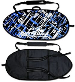 "East Coast Skimboards ECS Skimboard Travel Bag – Large 54"" (ECS Art Blue)"