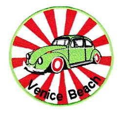 Vintage Style Venice Beach Surfer Shirt Patch 9cm – Badge – Patches – 70' ...