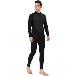 Realon Men's 3mm Neoprene Wetsuit CR Diving Surfing Suit Snorkeling Suits Full Body Jumpsu ...