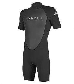 O'Neill Men's Reactor-2 2mm Back Zip Short Sleeve Spring Wetsuit, Black, XX-Large