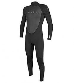 O'Neill Men's Reactor II 3/2mm Back Zip Full Wetsuit, Black, Large Tall