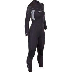 Women's Thermoprene Pro Wetsuit 3mm Back Zip Fullsuit Black