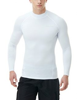 TM-MSR10-THW_2X-Large Tesla Men's UPF 50+ Long Sleeve Rashguard T71/MSR10/MSR11