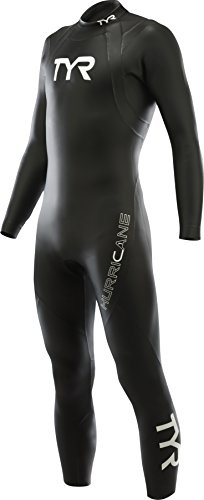 TYR Men's Hurricane Wetsuit Category 1, Black/White, Large