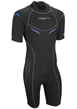 Phantom Aquatics Men's Marine Shorty Wetsuit, Black/Blue, Medium