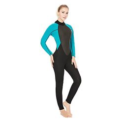 Realon Womens Wetsuit Full 3mm 2mm Neoprene Surfing Scuba Diving Snorkeling Swimming Suit (black ...