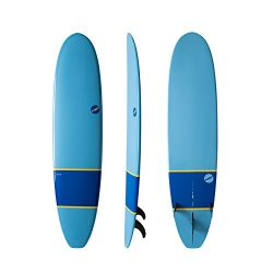 NSP ELEMENTS LONGBOARD SURFBOARD | FINS INCLUDED | DURABLE ALL AROUND LONG BOARD SURF BOARD (Nav ...