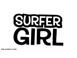 Surfer girl cali long board surfboard car truck window sticker decal
