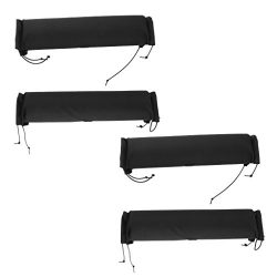 MagiDeal 4 Pieces Soft Padded Car Roof Bar Rack Pads Universal for Kayak Canoe Surfboard Snowboa ...
