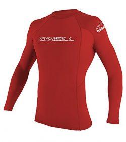 O'neill Men's Basic Skins UPF 50+ Long Sleeve Rash Guard, Red, XX-Large