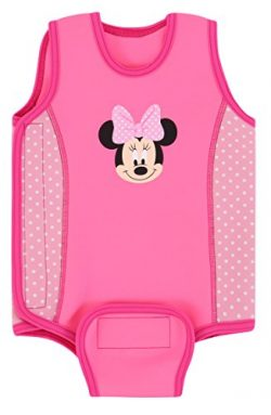 Aquawarm Pink Neoprene Baby's Warm Wetsuit w/UV Protection – Infant's Safest Swimsuit (Minnie Mo ...