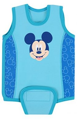 Aquawarm Mickey Mouse Infant Boys' Neoprene Baby Warmer Swim Wetsuit, Blue (0-6 Months)