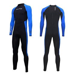 Full Body Dive Wetsuit Sports Skins Lycra Rash Guard for Men Women, UV Protection Long Sleeve On ...