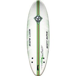 Scott Burke 6′ Soft Surfboard Package, White/Green