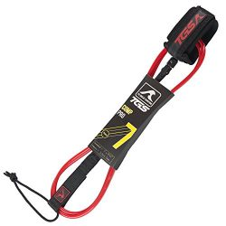 TGS Superior Surf Leash – 7 ft Premium Leash with Double Stainless Steel Swivels and Tripl ...